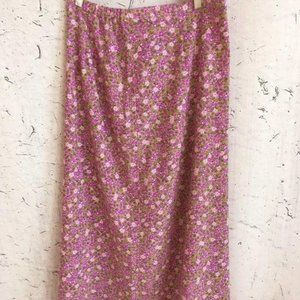 CHRISTOPHER AND BANKS PURPLE FLORAL SKIRT  8